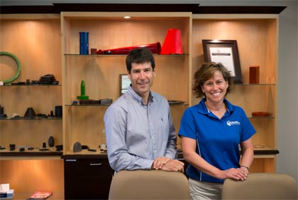 Mike Katz, President, and Linda Katz, CEO, of Molded Dimensions, Inc.