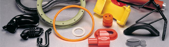 Rubber seals, hoses, gaskets, rollers, and boots molded using injection, compression, and transfer tools.